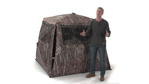 Guide Gear Camo Flare Out 5-Hub Ground Blind - image 10 from the video