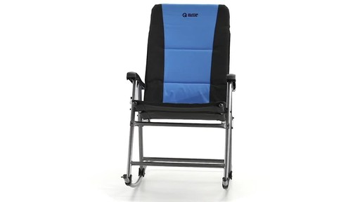 Guide Gear Oversized Rocking Camp Chair 500 lb. Capacity Blue 360 View - image 2 from the video