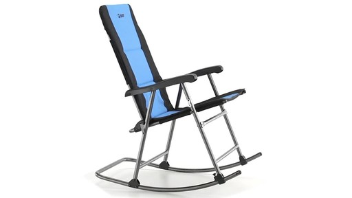 Guide Gear Oversized Rocking Camp Chair 500 lb. Capacity Blue 360 View - image 4 from the video