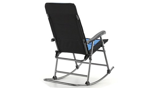 Guide Gear Oversized Rocking Camp Chair 500 lb. Capacity Blue 360 View - image 6 from the video