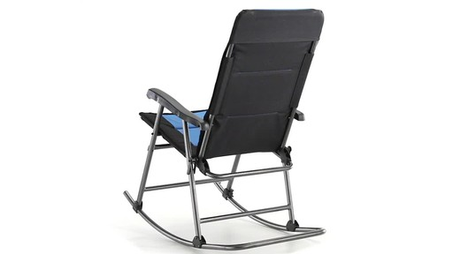 Guide Gear Oversized Rocking Camp Chair 500 lb. Capacity Blue 360 View - image 8 from the video