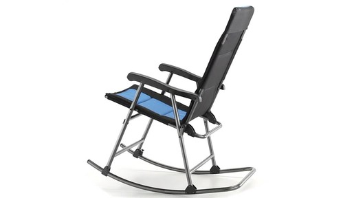 Guide Gear Oversized Rocking Camp Chair 500 lb. Capacity Blue 360 View - image 9 from the video