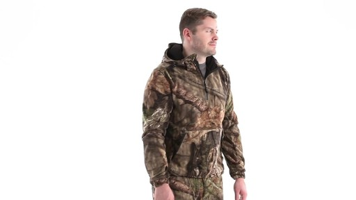 Guide Gear Men's Whist Pullover Hunting Jacket with W3 Fleece 360 View - image 2 from the video