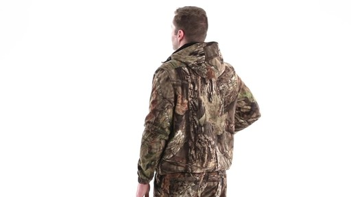 Guide Gear Men's Whist Pullover Hunting Jacket with W3 Fleece 360 View - image 6 from the video