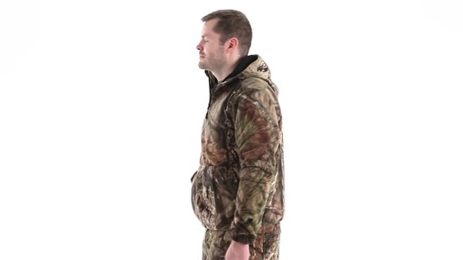 Guide Gear Men's Whist Pullover Hunting Jacket with W3 Fleece 360 View - image 7 from the video