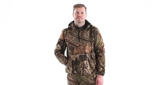 Guide Gear Men's Whist Pullover Hunting Jacket with W3 Fleece 360 View - image 8 from the video