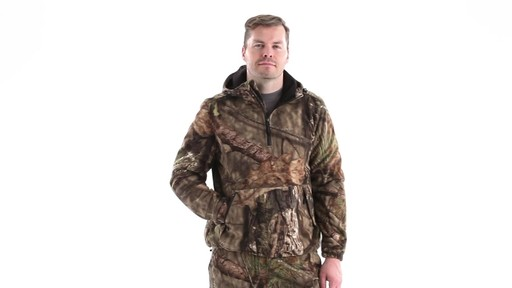 Guide Gear Men's Whist Pullover Hunting Jacket with W3 Fleece 360 View - image 9 from the video