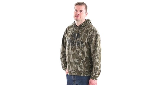 Guide Gear Men's Mossy Oak Bottomland Camo Hoodie 360 View - image 9 from the video