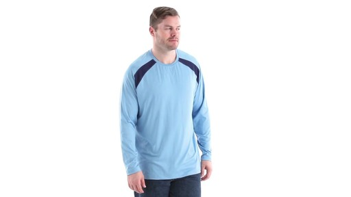 Guide Gear Men's Performance Fishing Long Sleeve T-Shirt 360 View - image 2 from the video