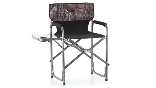 Guide Gear Oversized Mossy Oak Break-Up COUNTRY Camo Tall Director's Chair 500 lb. Capacity 360 View - image 3 from the video