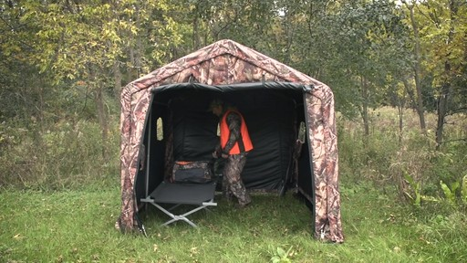 Guide Gear Camo Hunting Shed - image 7 from the video