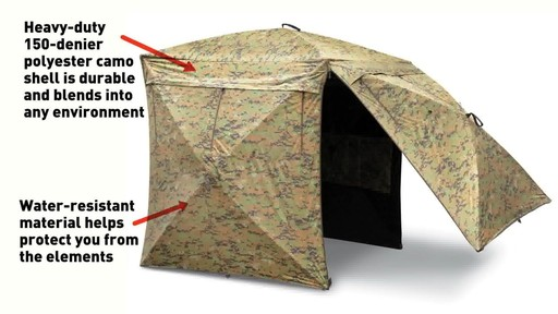 Guide Gear Deluxe 5-hub Digital Camo Blind - image 5 from the video