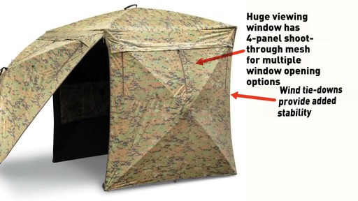Guide Gear Deluxe 5-hub Digital Camo Blind - image 7 from the video