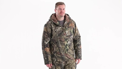 Guide Gear Men's Insulated Silent Adrenaline Hunting Jacket 360 View - image 1 from the video