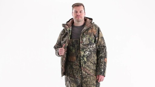 Guide Gear Men's Insulated Silent Adrenaline Hunting Jacket 360 View - image 10 from the video