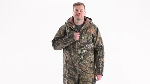 Guide Gear Men's Insulated Silent Adrenaline Hunting Jacket 360 View - image 8 from the video