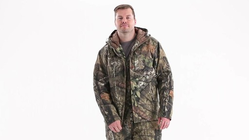 Guide Gear Men's Insulated Silent Adrenaline Hunting Jacket 360 View - image 9 from the video