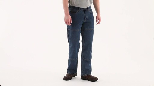 Guide Gear Men's Flannel-Lined Denim Stone Wash Jeans 360 View - image 1 from the video