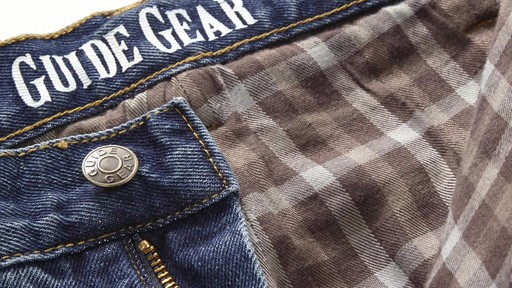 Guide Gear Men's Flannel-Lined Denim Stone Wash Jeans 360 View - image 10 from the video