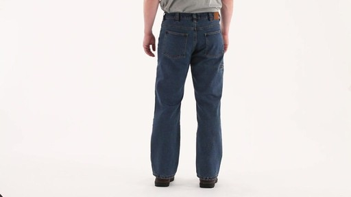 Guide Gear Men's Flannel-Lined Denim Stone Wash Jeans 360 View - image 4 from the video
