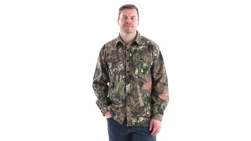 Guide Gear Men's Button-Down Hunting Shirt 360 View - image 10 from the video