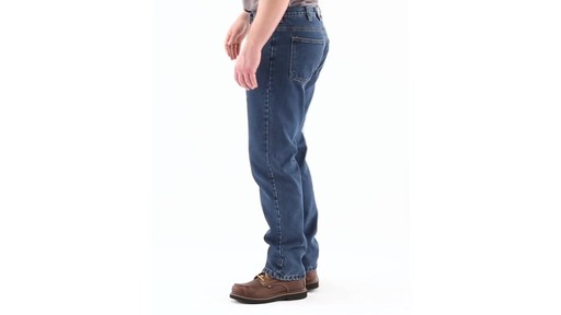 Guide Gear Men's Flannel-Lined Denim Jeans 360 View - image 6 from the video