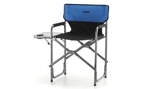 Guide Gear Oversized Tall Directors Chair Blue 500-lb. Capacity 360 View - image 1 from the video