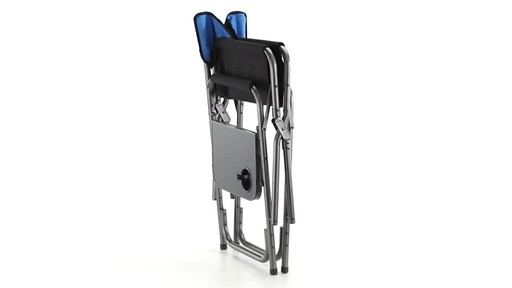 Guide Gear Oversized Tall Directors Chair Blue 500-lb. Capacity 360 View - image 10 from the video