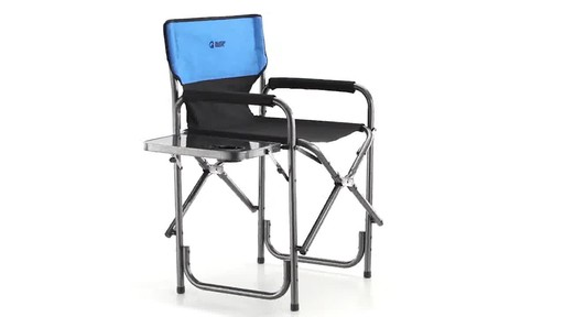 Guide Gear Oversized Tall Directors Chair Blue 500-lb. Capacity 360 View - image 3 from the video