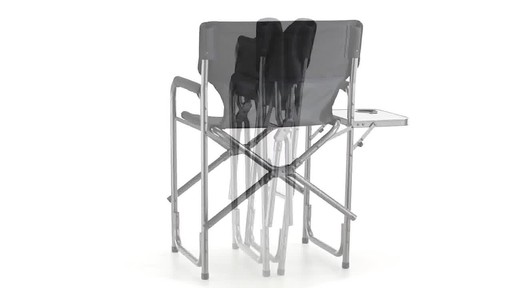 Guide Gear Oversized Tall Directors Chair Blue 500-lb. Capacity 360 View - image 6 from the video