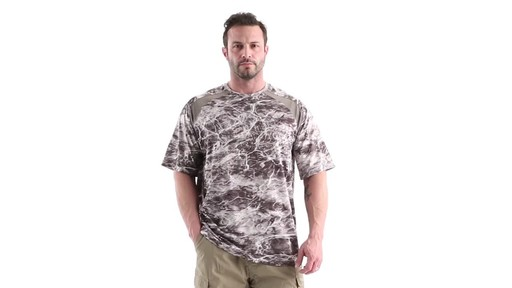 Guide Gear Men's Performance Fishing Short Sleeve Shirt Mossy Oak Elements Agua 360 View - image 10 from the video