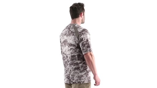 Guide Gear Men's Performance Fishing Short Sleeve Shirt Mossy Oak Elements Agua 360 View - image 3 from the video