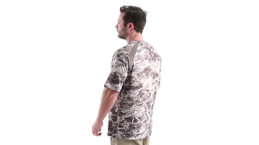 Guide Gear Men's Performance Fishing Short Sleeve Shirt Mossy Oak Elements Agua 360 View - image 6 from the video