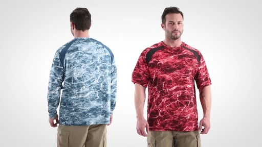Guide Gear Men's Performance Fishing Long Sleeve Shirt Mossy Oak Elements Agua - image 6 from the video