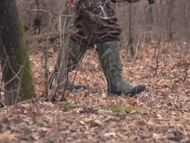 Men's Guide Gear® Rubber / Neoprene Universal Hunting Boots Mossy Oak Break-Up Infinity® - image 3 from the video