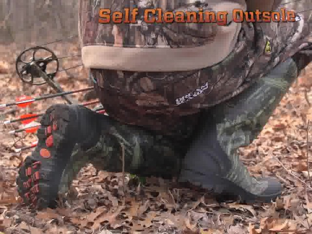 Men's Guide Gear® Rubber / Neoprene Universal Hunting Boots Mossy Oak Break-Up Infinity® - image 4 from the video