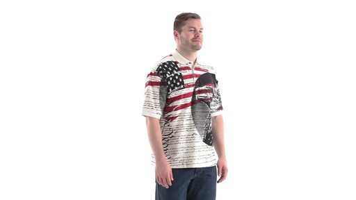 Guide Gear Men's Americana Polo Shirt 360 View - image 2 from the video