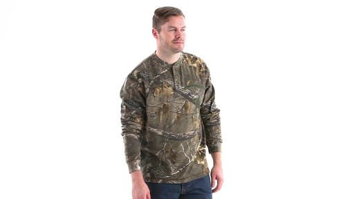 Guide Gear Men's Realtree Xtra Henley Shirt 360 View - image 2 from the video