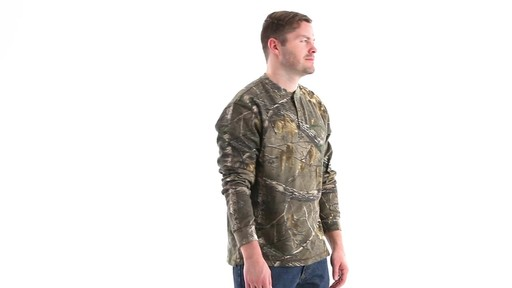 Guide Gear Men's Realtree Xtra Henley Shirt 360 View - image 3 from the video