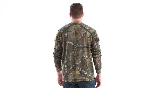 Guide Gear Men's Realtree Xtra Henley Shirt 360 View - image 6 from the video