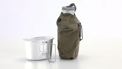 Italian Military Surplus Canteen Cup and Cover Set New 360 View - image 1 from the video