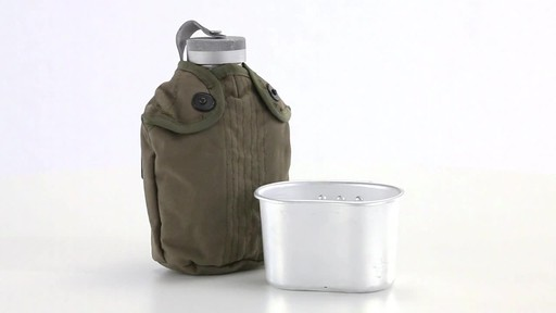 Italian Military Surplus Canteen Cup and Cover Set New 360 View - image 5 from the video