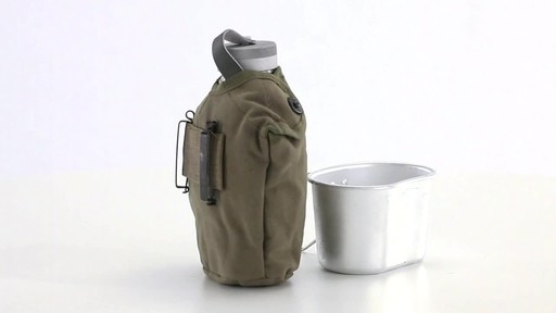 Italian Military Surplus Canteen Cup and Cover Set New 360 View - image 7 from the video