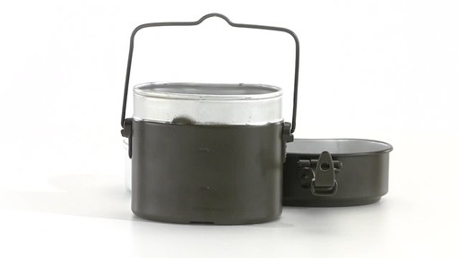 German Military Surplus Mess Kit Olive Drab New 360 View - image 6 from the video