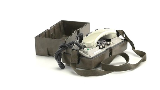 German Military Surplus Field Phone Used 360 View - image 4 from the video