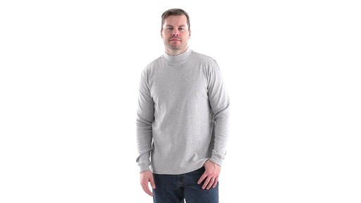 Guide Gear Men's Mock Turtleneck Long-Sleeve Shirt 360 View - image 10 from the video