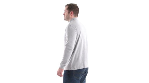 Guide Gear Men's Mock Turtleneck Long-Sleeve Shirt 360 View - image 6 from the video