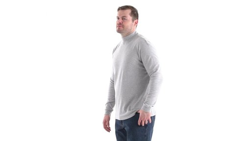 Guide Gear Men's Mock Turtleneck Long-Sleeve Shirt 360 View - image 7 from the video