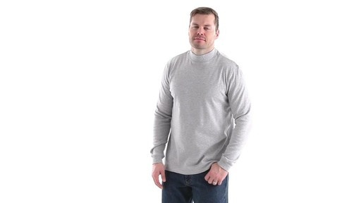 Guide Gear Men's Mock Turtleneck Long-Sleeve Shirt 360 View - image 8 from the video