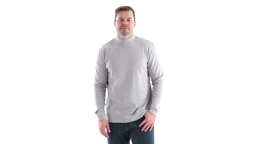 Guide Gear Men's Mock Turtleneck Long-Sleeve Shirt 360 View - image 9 from the video